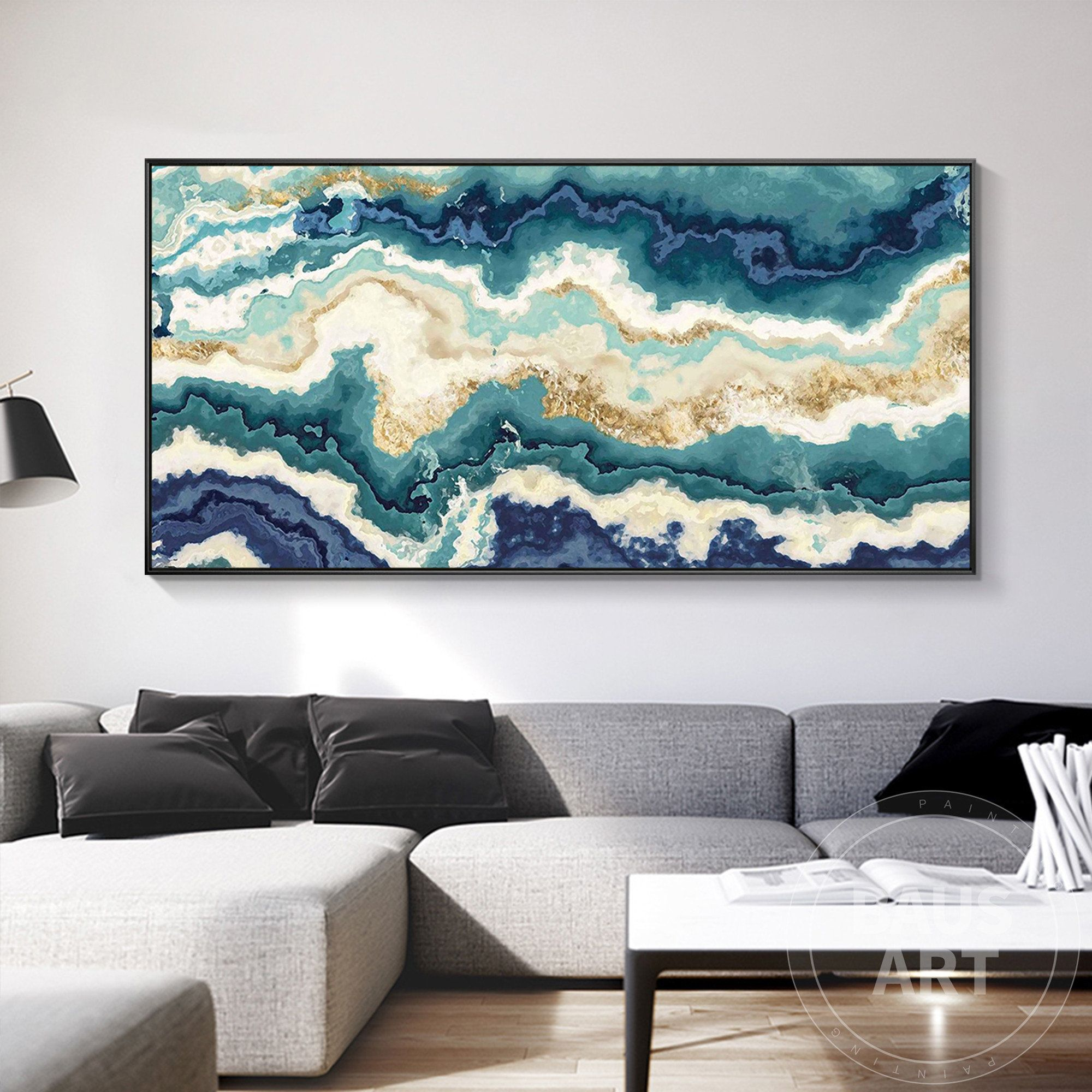 Abstract Agate Texture Print Green Texture Painting Green Agate Texture Framed Wall Decor Art Large Modern Wall Art Print Ready To Hang Large Modern Wall Art Texture Painting Framed Prints Wall