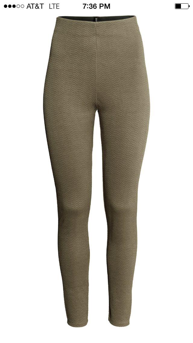 H&M textured leggings