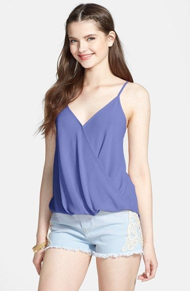 27d99afb83c Free shipping and returns on Lush Faux Wrap Woven Camisole (Juniors ...