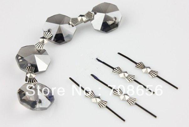 1000pcs 46mm Chrome Chandelier Parts Lamp Crystal Prism Bead