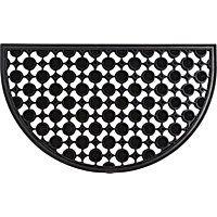 Homebase Decorative Rubber Half Moon Mat  sc 1 st  Pinterest & Homebase Decorative Rubber Half Moon Mat | Rugs | Pinterest | Doors ...