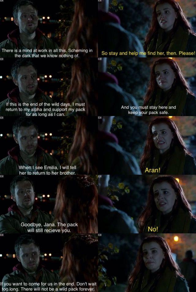 Aran tells Jana goodbye   Wolfblood Season 5 Episode 2