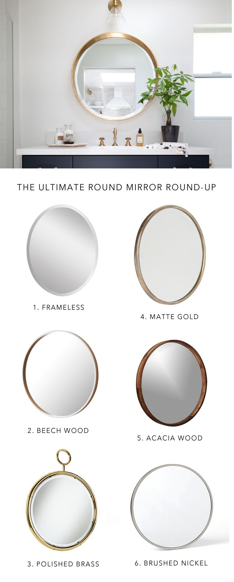 10 BEST: Round bathroom mirrors | Pinterest | Round bathroom mirror ...