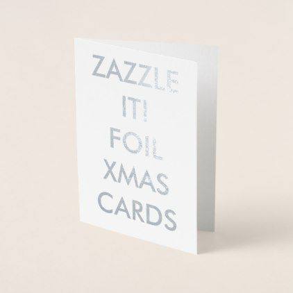 Custom Personalized Silver Foil Greeting Card Zazzle Com