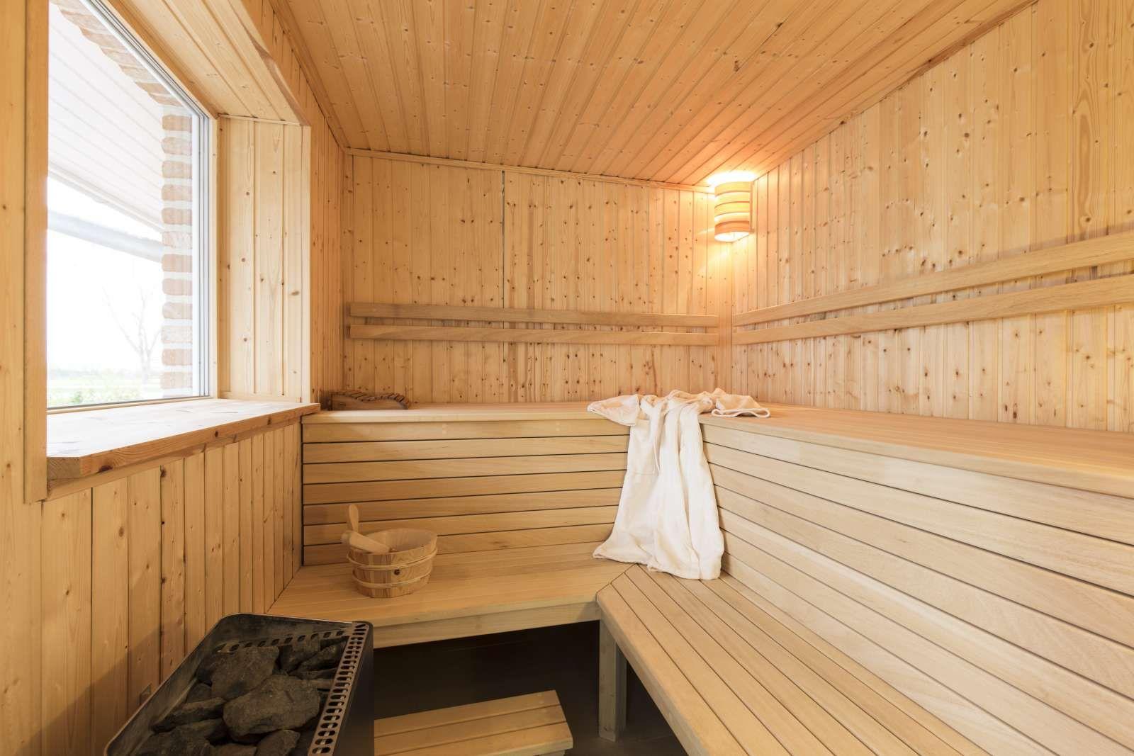 Sauna mit Infrarotstrahler WellnessFerienhaus auf der
