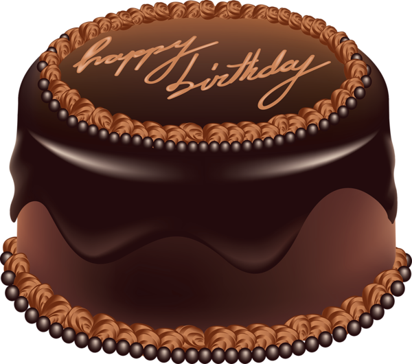 Chocolate Cake Happy Birthday Art PNG Large Picture Bolo
