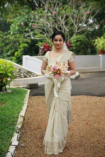 kerala christian brides sarees - Google Search | Christian bride, Saree wedding, Christian ...