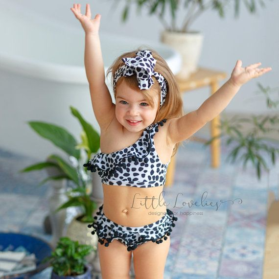 ca18ece8a85 Polka dot swimsuit for gils