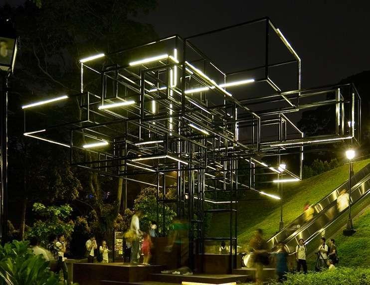 Illuminated Landscape Installations Installation And Light