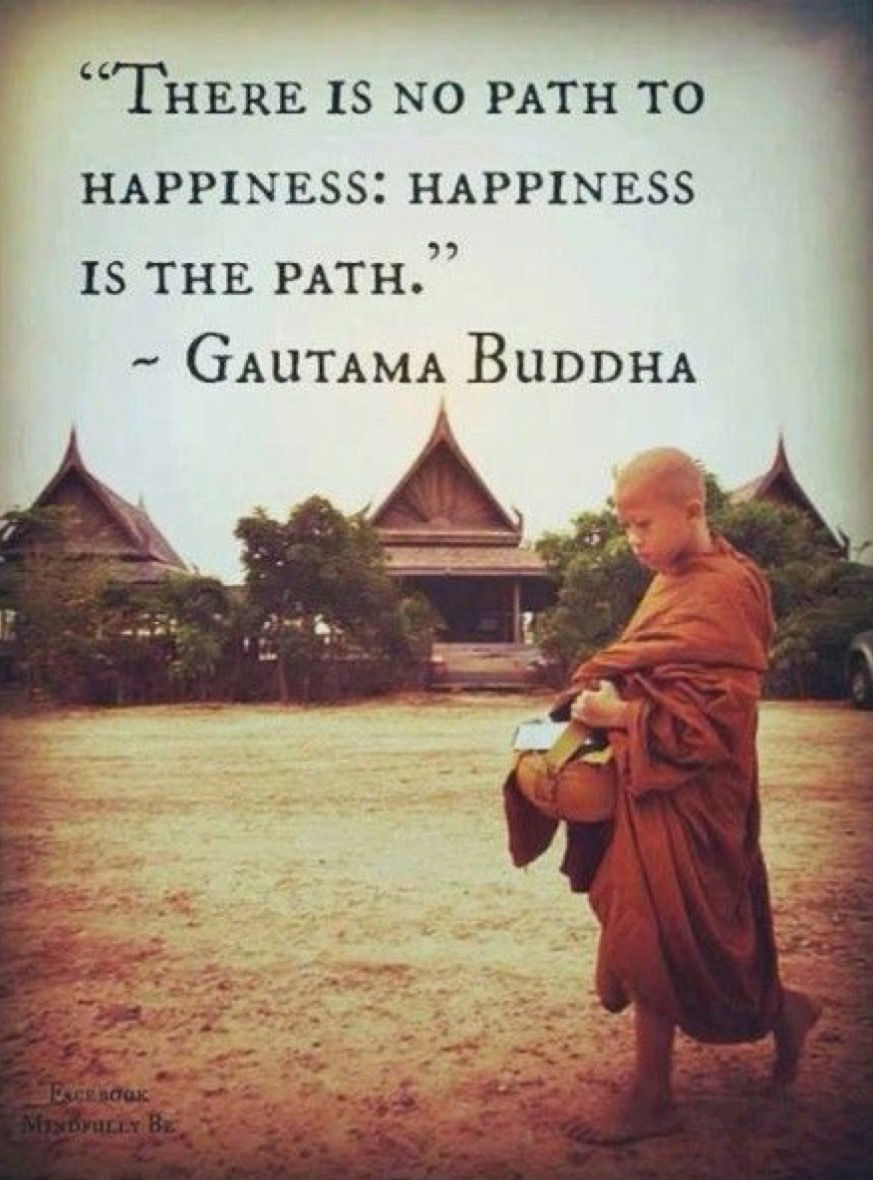A Quote About Happiness Let Happiness Be Your Path Inspiring Yoga Quotes Last Yogi