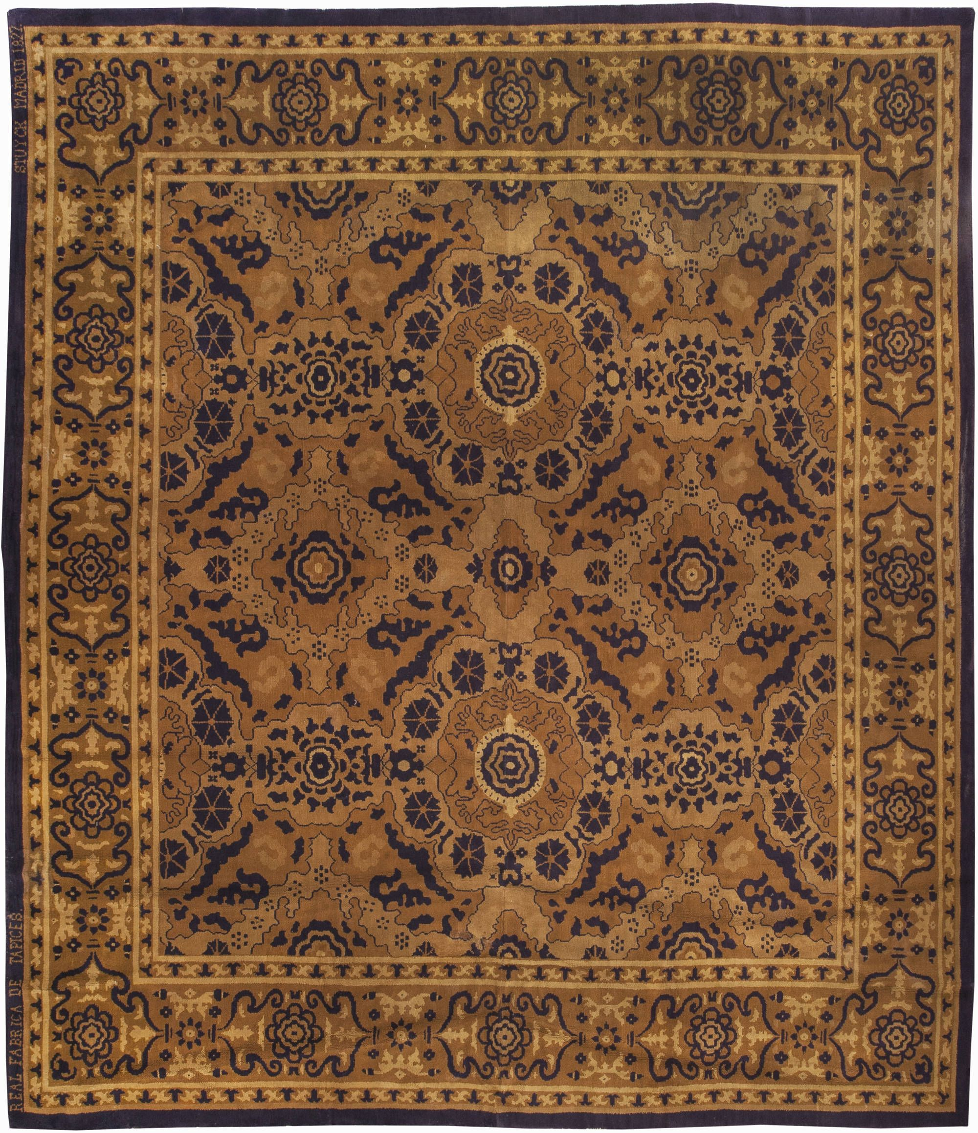 Vintage Rugs Rug Spanish For Modern Or Oriental Interior Decor Living Room