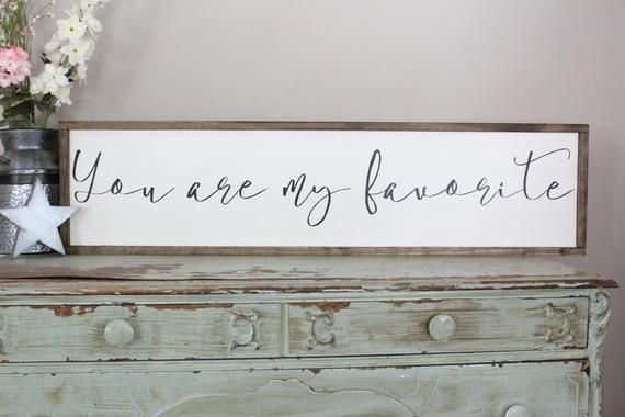 You are my favorite wood sign distressed inspirational home decor farmhouse style also rh pinterest