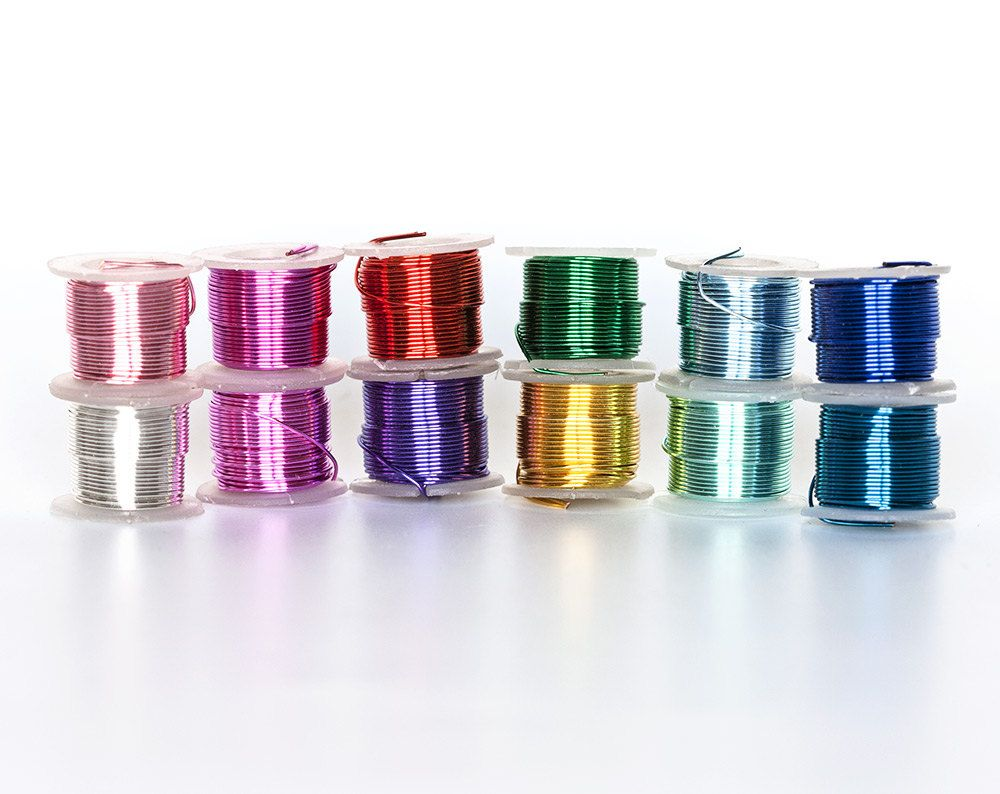 2320 Multi Colored Wire 22 Gauge Jewelry Wire 0 64mm