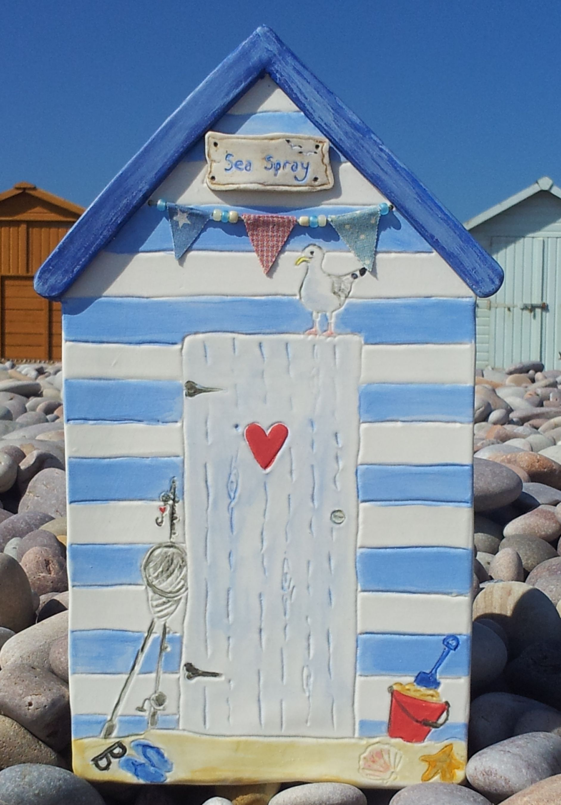 Ceramic Beach Hut Wall Hanging For Constant Memories Of Summer