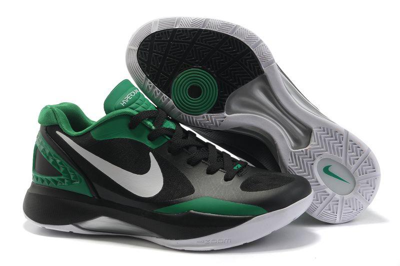 Men Purchase Cheap Best Quality Nike Zoom Hyper Dunk 2011 Low Black Green War Boots