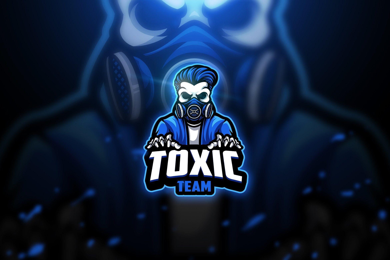 Toxic skull 2 Mascot & Esport Logo Ruang seni, Gambar