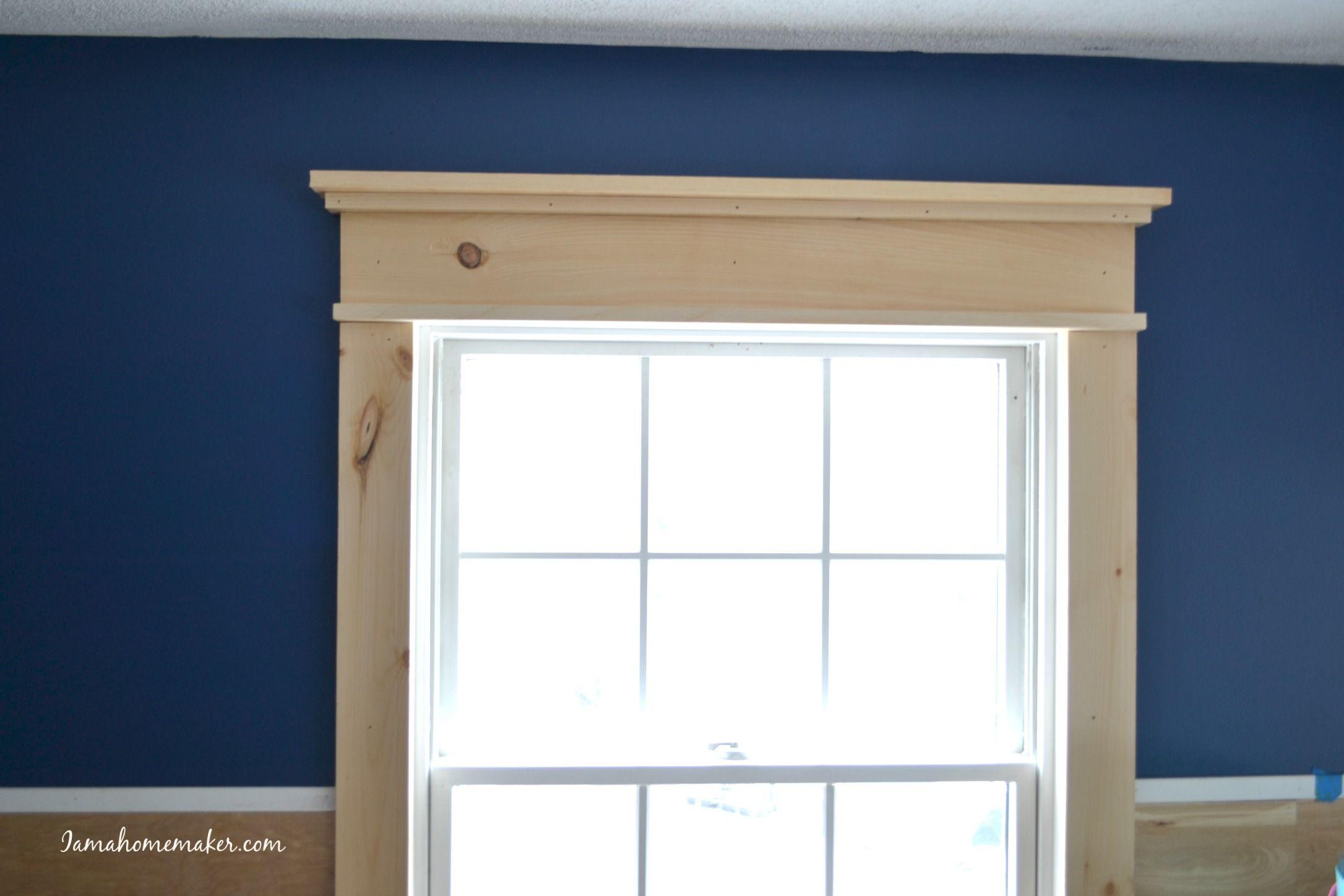 Super simple DIY farmhouse window trim Farmhouse trim