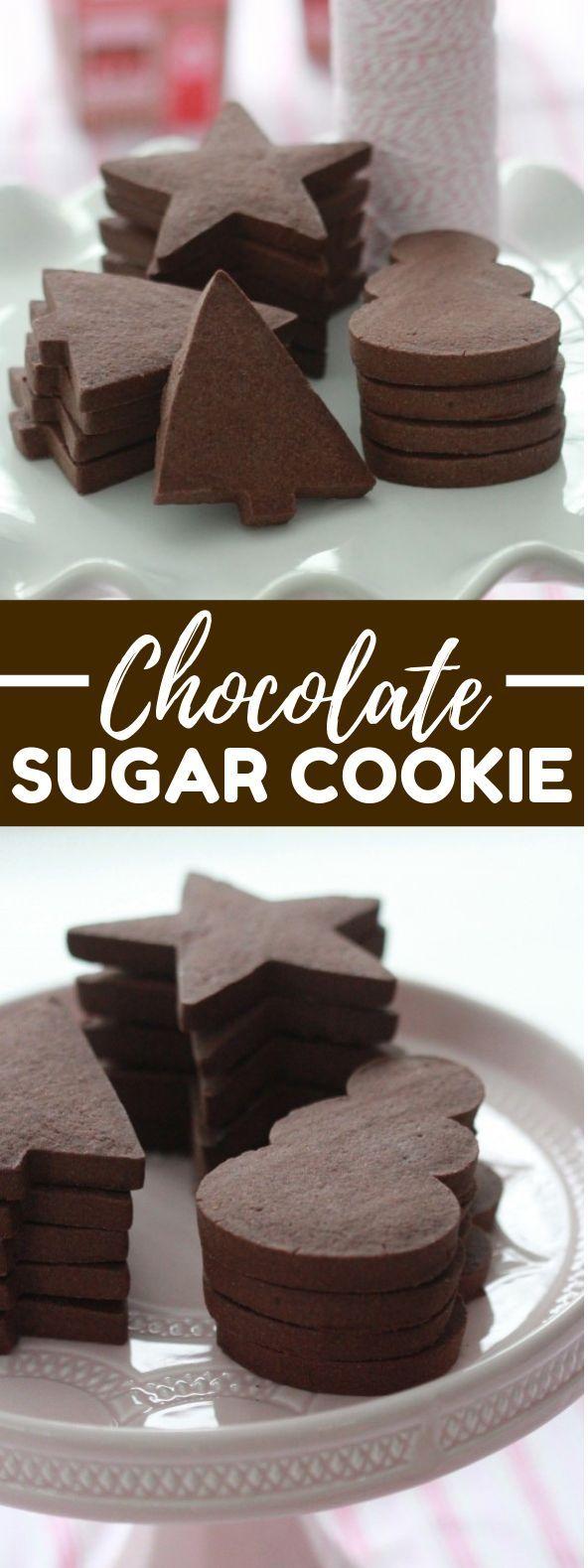 Chocolate Sugar Cookie Recipe {Cut Out Cookies} -