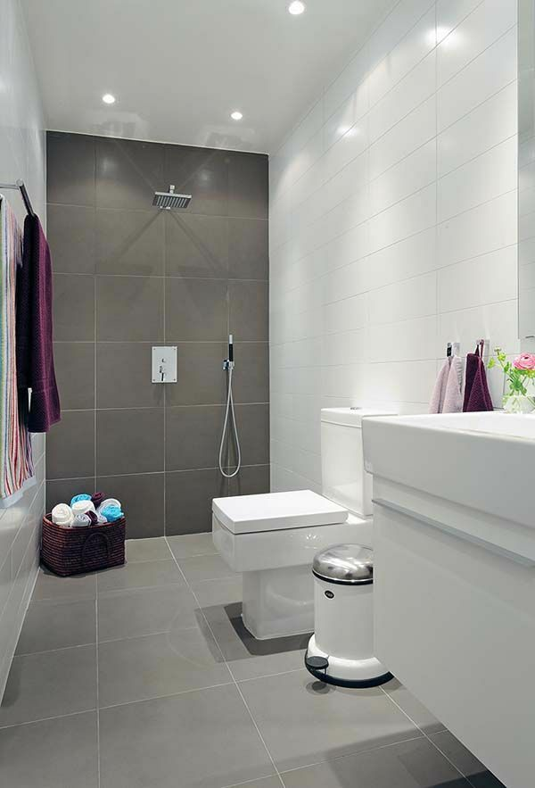 Fesselnd Kleines Bad Einrichten Badfliesen Modern Weiß Grau 600×883 Pixel | Fliesen  | Pinterest | Grey Tiles, Bath And Kitchens Awesome Ideas .