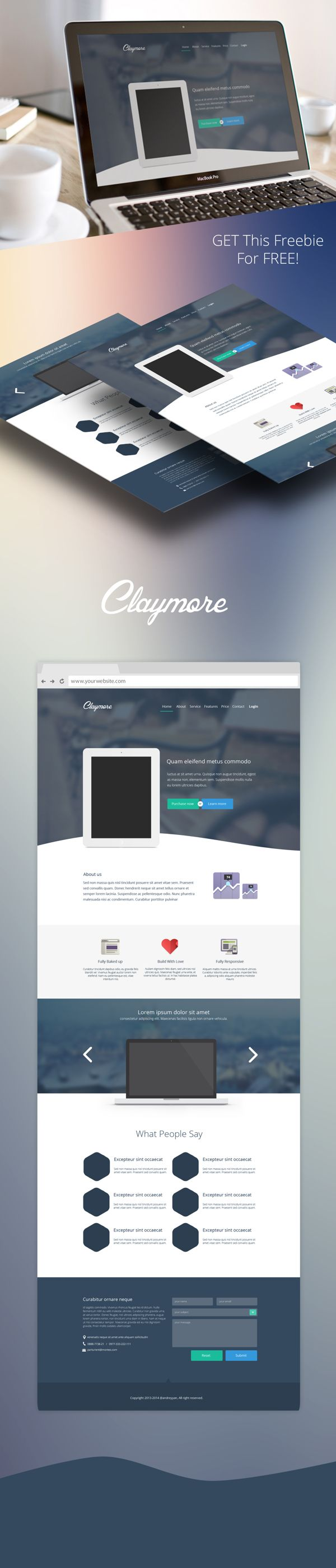 25+ Trendy New Landing Page & Single Page Website/APP PSD ...