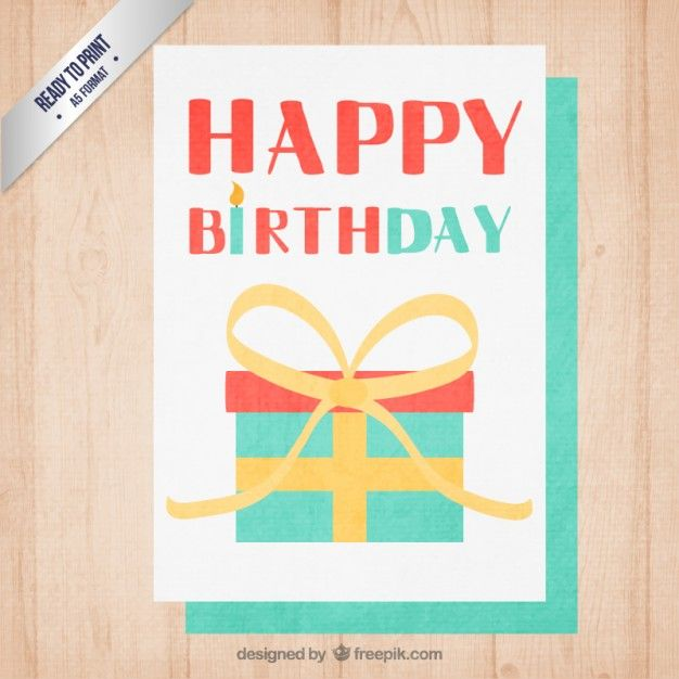 Cute birthday invitation card free vector happy birthday pinterest cute birthday invitation card free vector stopboris Image collections