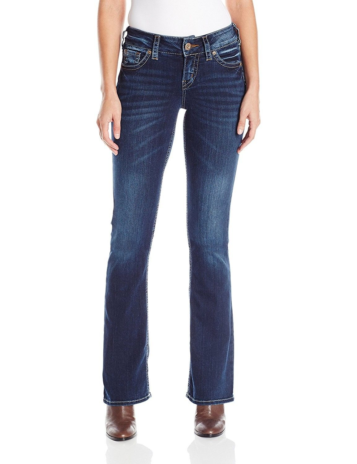 2d0a2b60 Women's Clothing, Jeans, Silver Jeans Co. Women's Suki Curvy Fit Mid Rise  Bootcut Jeans With Flap Pockets - Mid Wash Indigo - CV12MX20S6W #women  #clothing ...