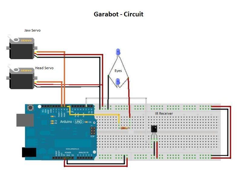 garabot the arduino ir controlled paper robot