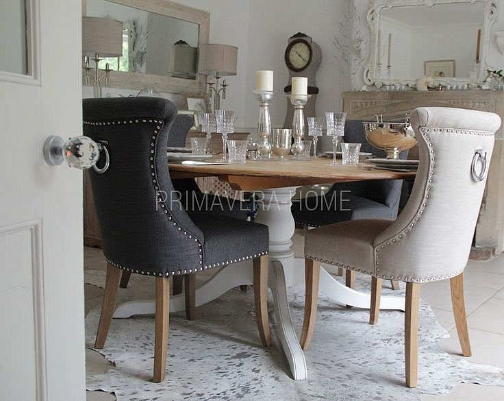 Krzesło Tapicerowane Pikowane Nowoczesne Glamour Do Jadalni Z