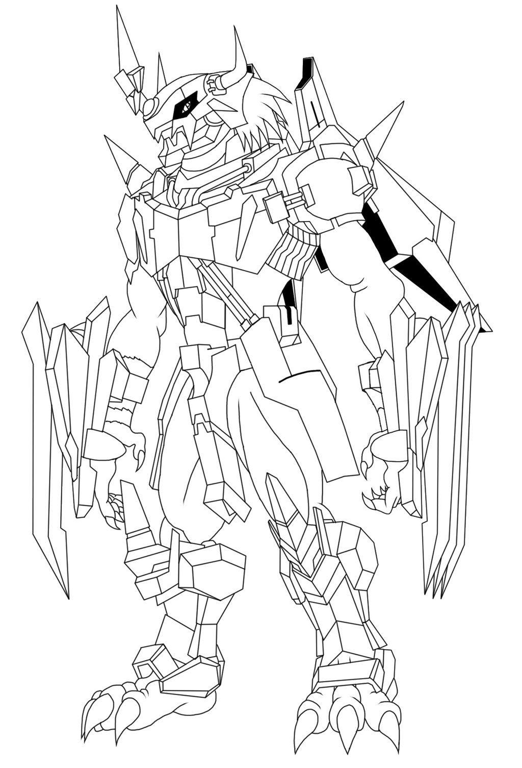 X Antibody Wargreymon Line Art By Pyrus Leonidas Art Line Art Digimon