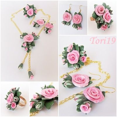 """Master class """"Tenderness"""". Jewelry in the form of flowers from polymer clay."""