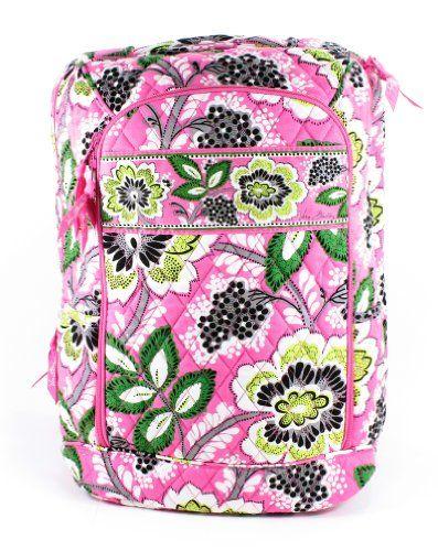 97159621ea Vera Bradley Laptop Backpack (Priscilla Pink)