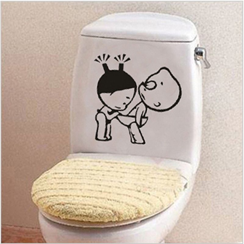 Bathroom Wall Stickers Toilet Home Decoration Waterproof Wall Decals For  Toilet Sticker Decorative Paste Home Decor