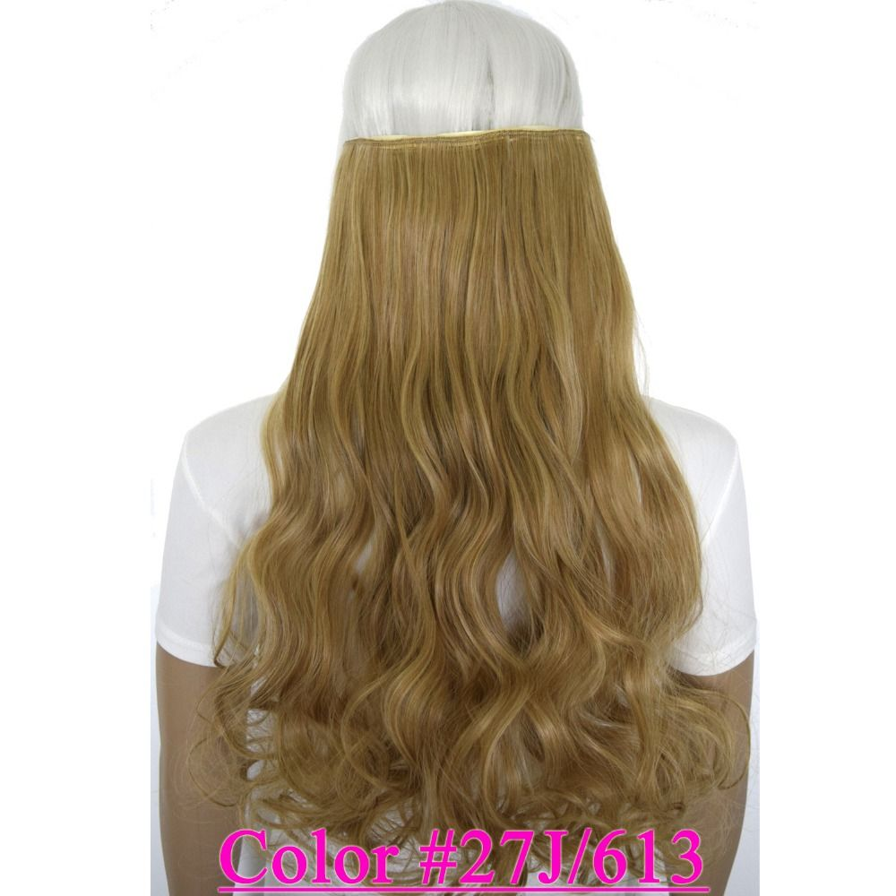 24 60cm 120g Curly 5 Clips On Hair Piece Clip In Hair Extensions