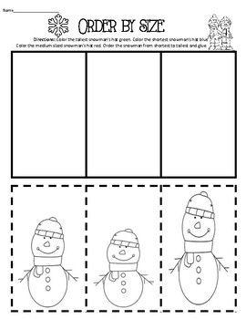 order by length math measurement kindergarten cut paste worksheets kindergarten math. Black Bedroom Furniture Sets. Home Design Ideas