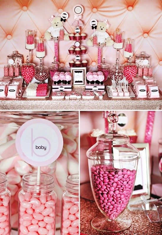 Ideas, Baby Girl Birthday Party Decorations, Party Dessert Table Decor ...