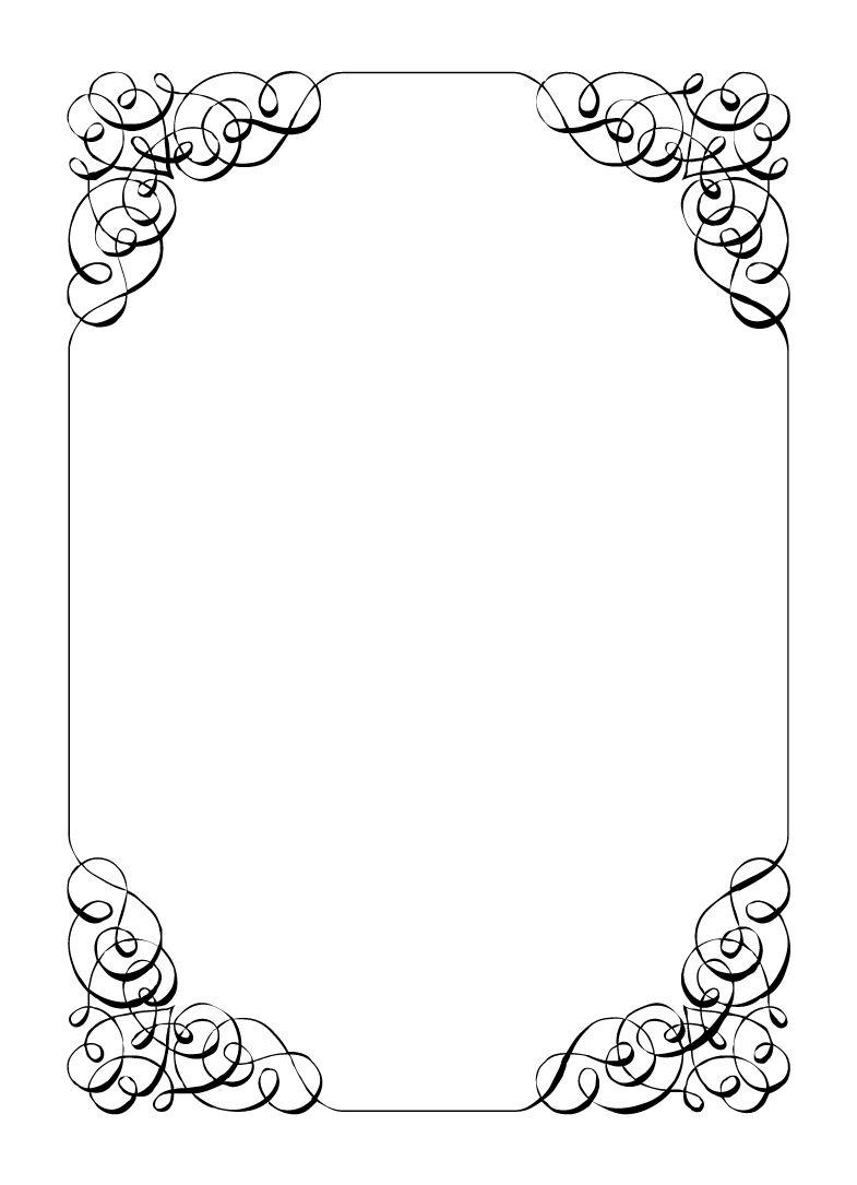 Free Vintage Borders Clip Art Paper Calligraphic Frame Border