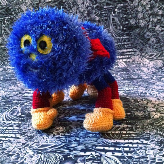 create an amigurumi spider toy similar to Woolly cbeebies Crochet pattern only
