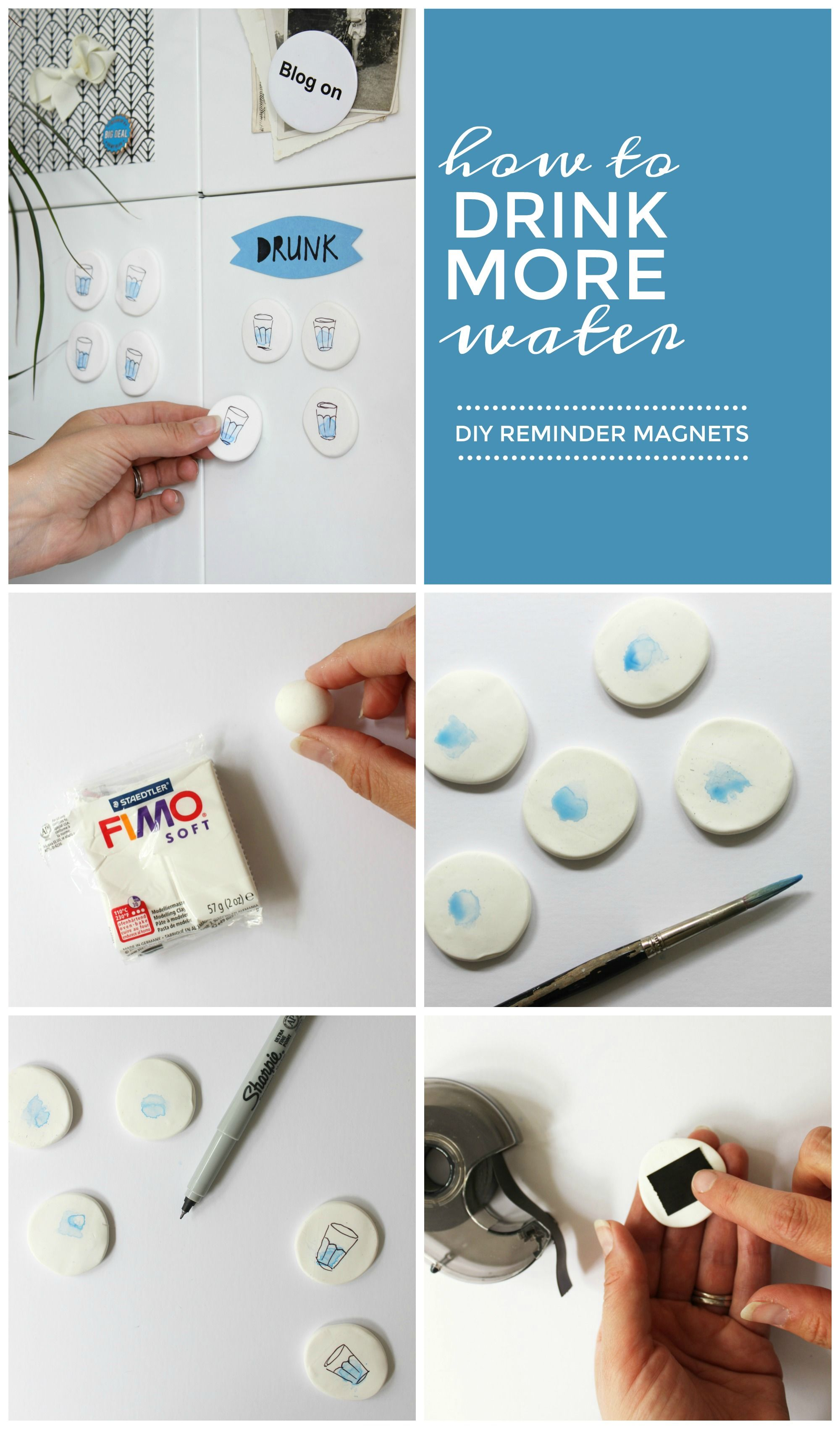 2df7d3815ce1 Do you drink enough water  These quick and easy DIY fridge magnets will  remind you to keep drinking water throughout the day. Click through for the  full ...