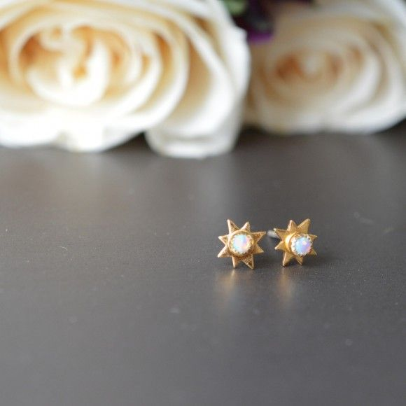 Opal Starburst Studs