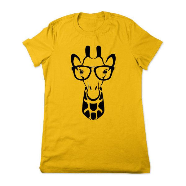 2bafc13fde Funny Giraffe T Shirt Safari Animal Wearing Glasses Geeky Graphic Tee...  ($16