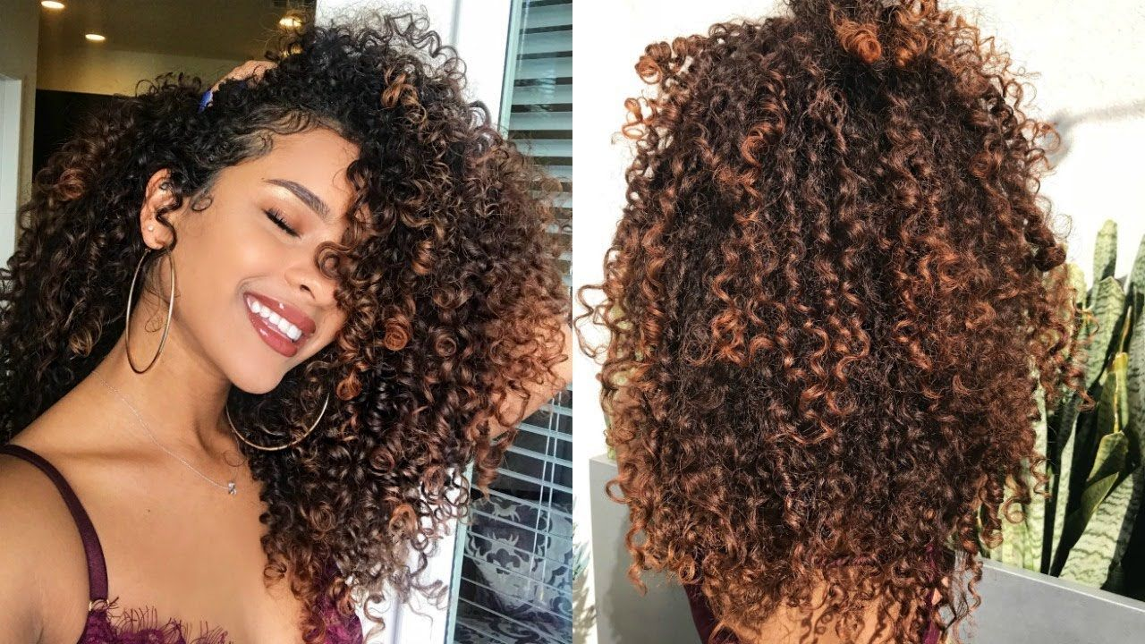 I Dyed My Curls Lighter Balayage On Naturally Curly Hair Dyed Natural Hair Curly Hair Styles Naturally Mixed Curly Hair