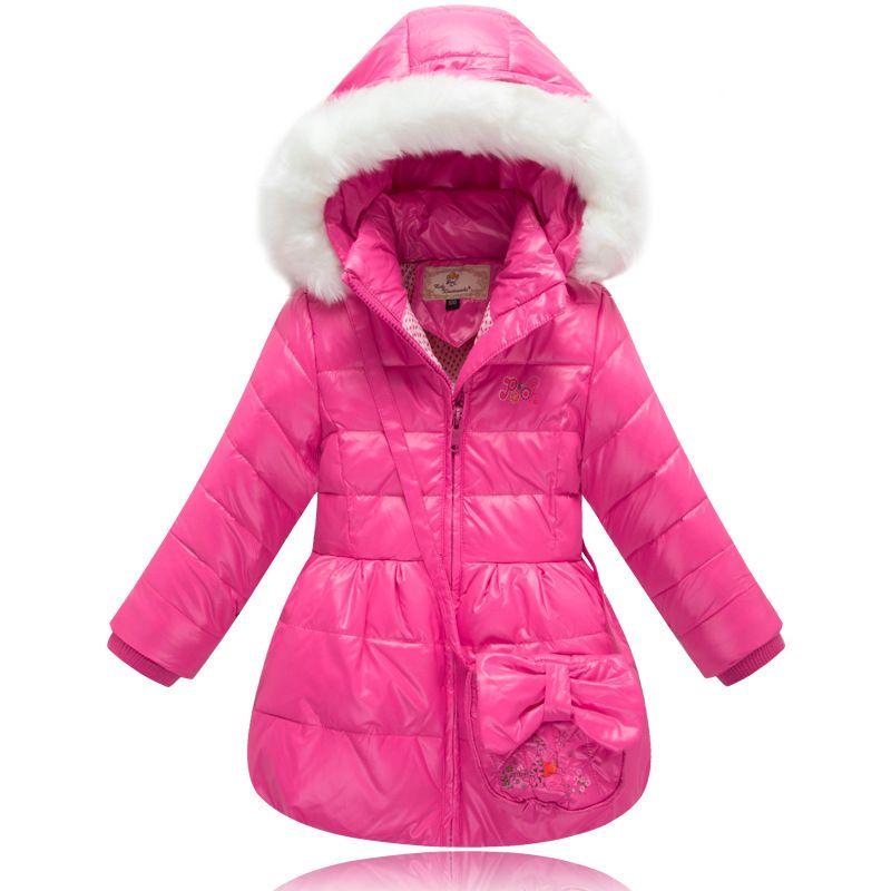 2015 Winter Warm Snowsuit Baby Girls Fur Collar Winter