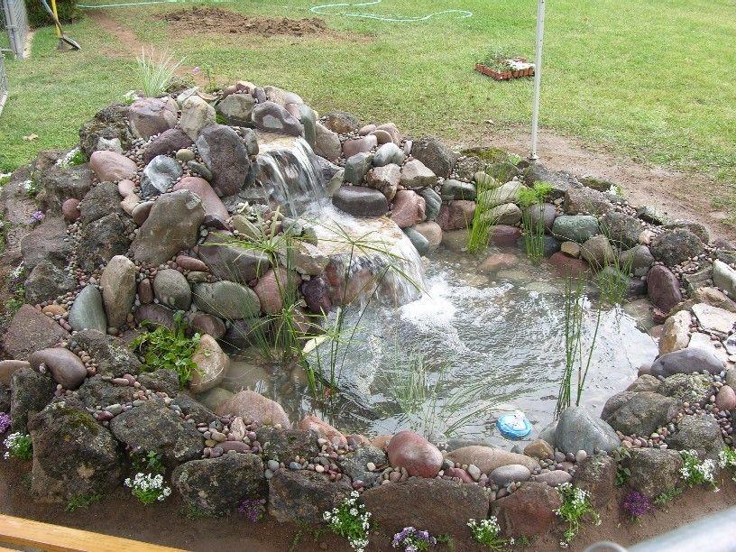 small pond waterfall ideas gardening pinterest small ponds