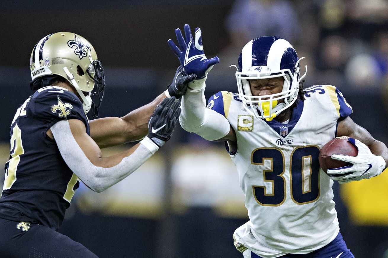 Live results and highlights from Rams vs. Saints All