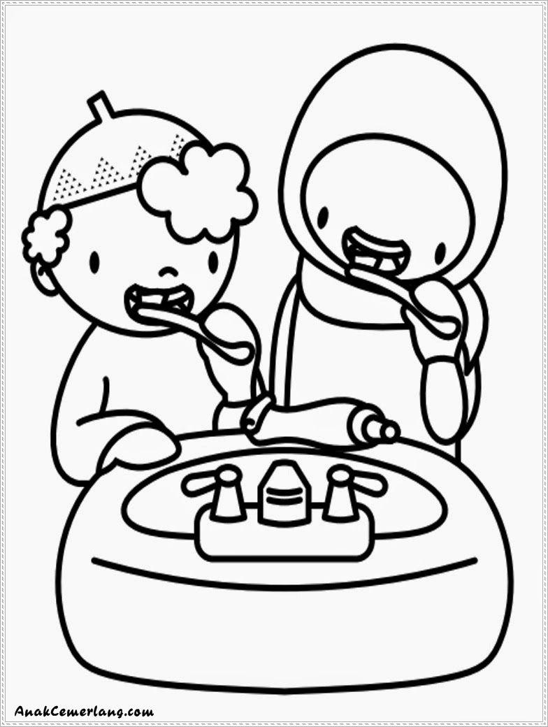 Koleksi Gambar Kartun Anak Menyikat Gigi