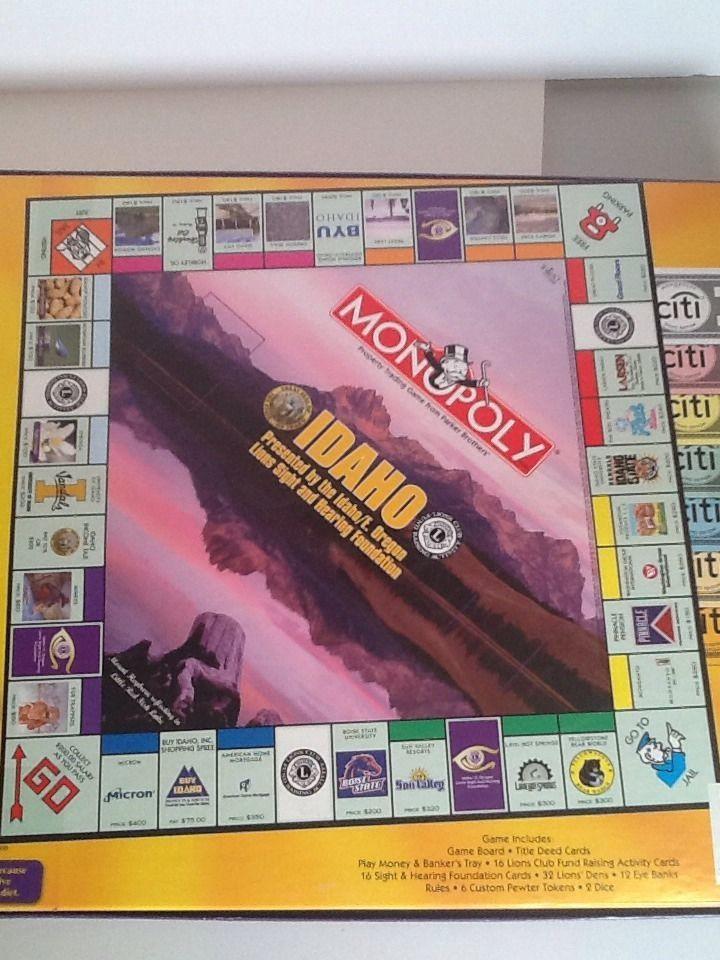 Idaho Monopoly New Opened Box 6 Custom Pewter Tokens Idaho