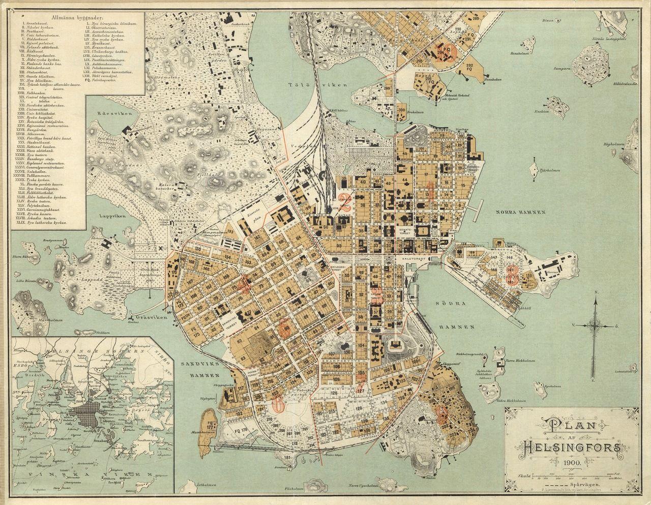 Aineistoja Material Kartta Helsinki