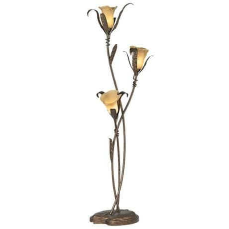 Franklin Iron Works Intertwined Lilies Floor Lamp Style 02350
