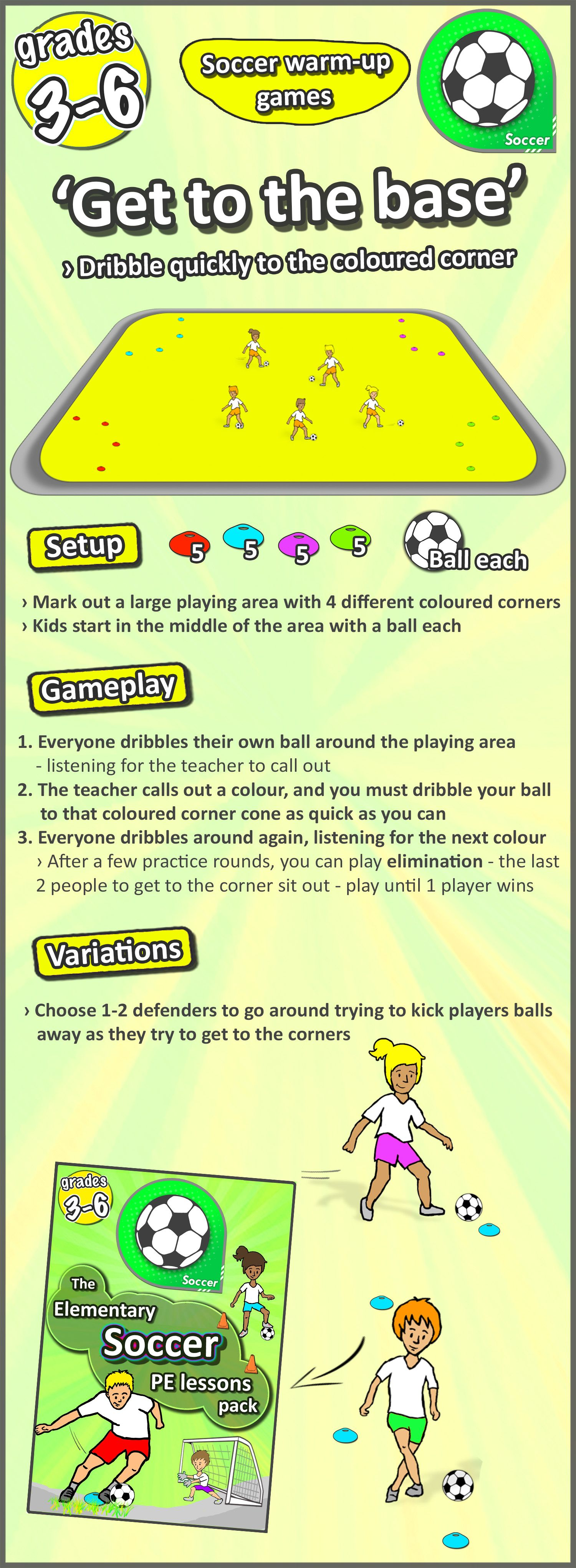A soccer lesson to try controlling the ball and quick - Game design lesson plans for teachers ...