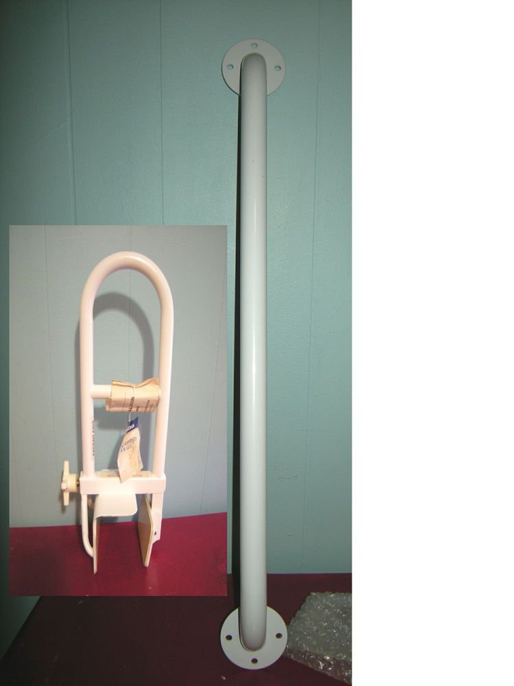 Wall & Tub Safety Bars WHITE, Clamp-On Handrail, 26\